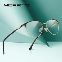 MERRYS DESIGN 여성 패션 트렌드 고양이 눈 안경 전체 프레임 숙녀 근시 안경 처방 광학 안경 S2028