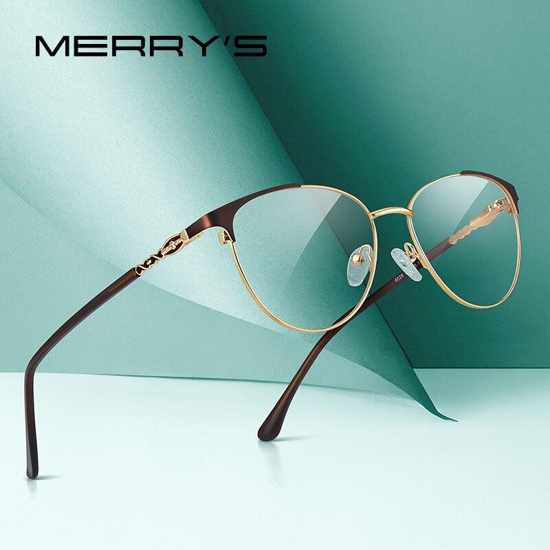 MERRYS DESIGN Women Fashion Trending Cat Eye Glasses Full Frame Ladies Myopia Eyewear Prescription Optical Eyeglasses S2028