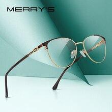 MERRYS עיצוב נשים אופנה במגמת חתול עין משקפיים מסגרת מלאה גבירותיי קוצר ראיה Eyewear מרשם אופטי משקפיים S2028