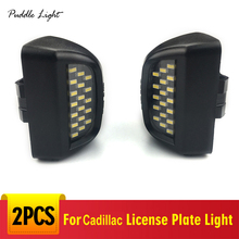 18LED License Plate Light Housing For Cadillac Escalade EXT ESV Chevy Silverado Tahoe Avalanche ClassicGMC Sierra Yukon