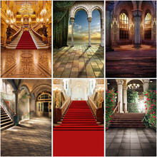 Mocsick Vintage Castle Photography Backdrops For Wedding Birthday Red Carpet Photo Props Studio Booth Background Banner