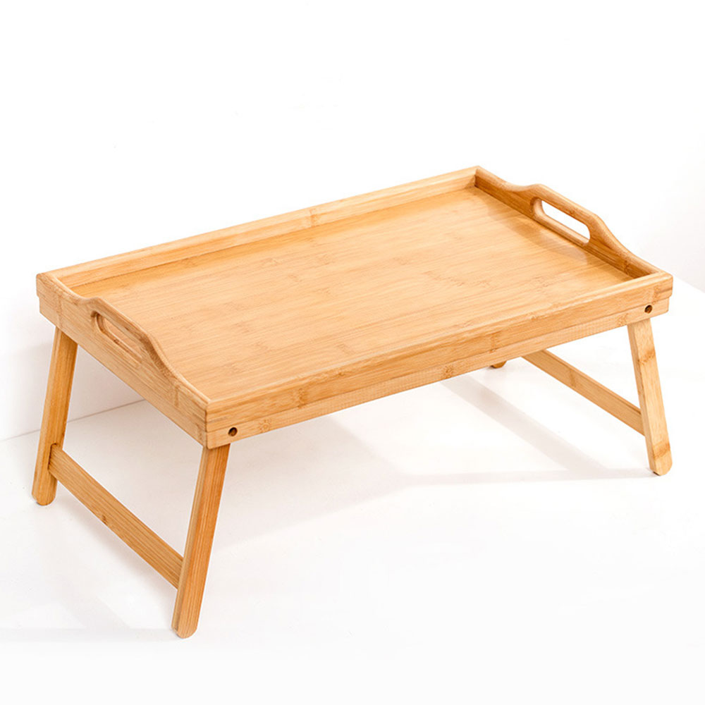 Folding Wooden Table Tray Laptop Computer Desk Stand Picnic Table