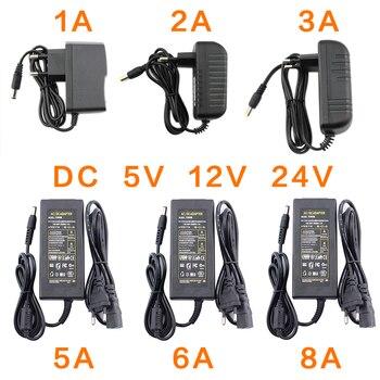 AC DC 12V 5V 6V 8V 9V 10V 12V 13V 14V 15V 24V Adapter do zasilacza 1A 2A 3A 5A 6A 8A 220V do 12V Adapter do zasilacza sterownik LED