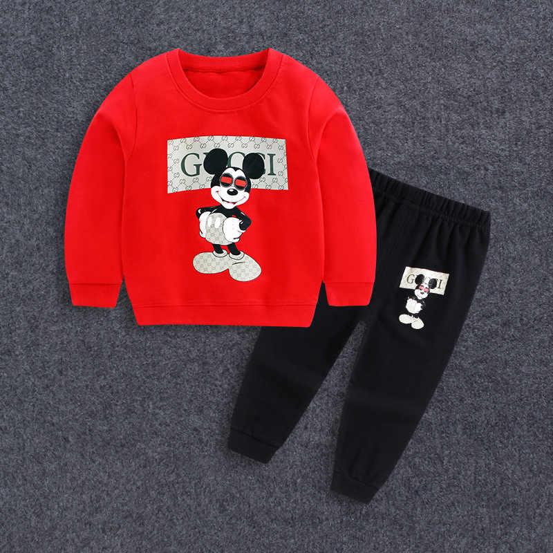Ropa de bebé recién nacido de invierno conjunto de algodón de manga larga Niño Niñas Ropa de dibujos animados bebé kidssport suit