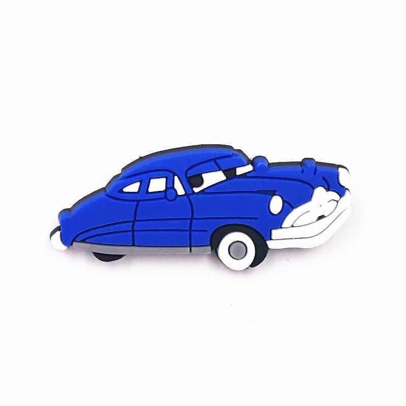 Kualitas Tinggi 1Pcs Laki-laki PVC Bros Kartun Mobil Super Lencana Aksesoris untuk Pria Tas Ransel Anak Syal Hat T-shirt pin Label