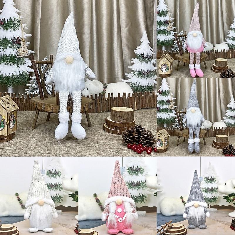 Navidad muñeco sin rostro feliz adornos navideños para el hogar Navidad adorno de Navidad Natal Año Nuevo 2021
