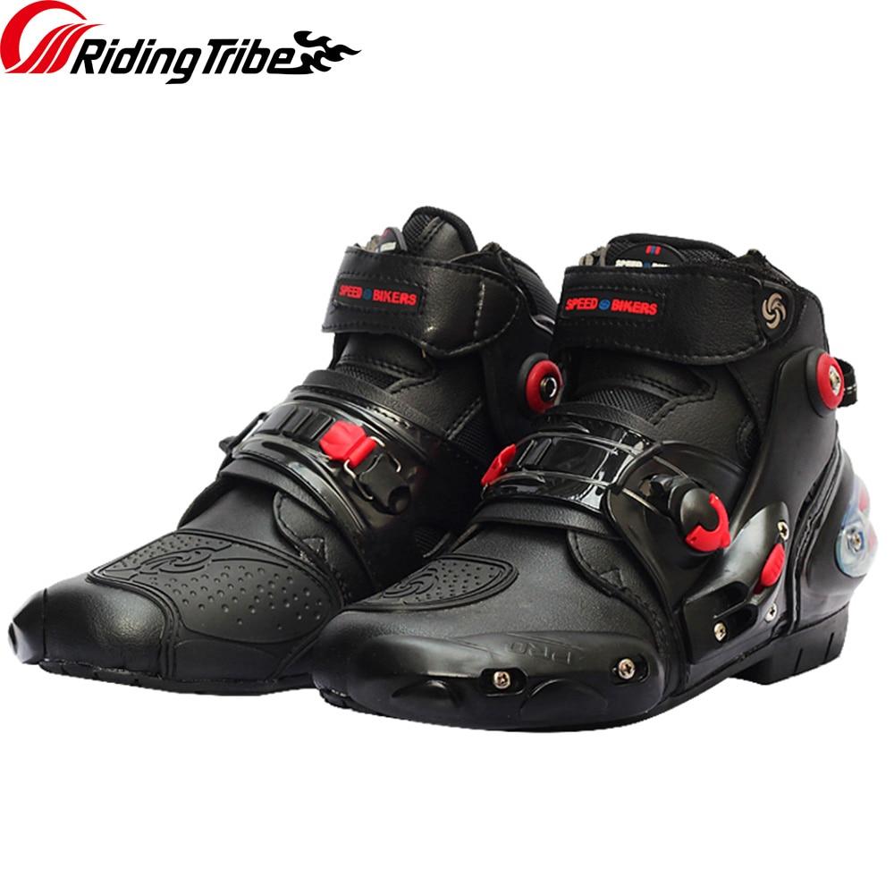 Jazda plemię motocykl buty antypoślizgowe wyścigowy ochronny buty Motocross motocykl Off-Road buty Moto Zapatos A9001