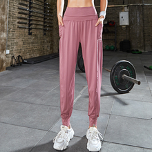 Dancing-Pants Jogger Women Pockets Solid-Trousers Sports-Wear Gym Fitness Loose High-Waist