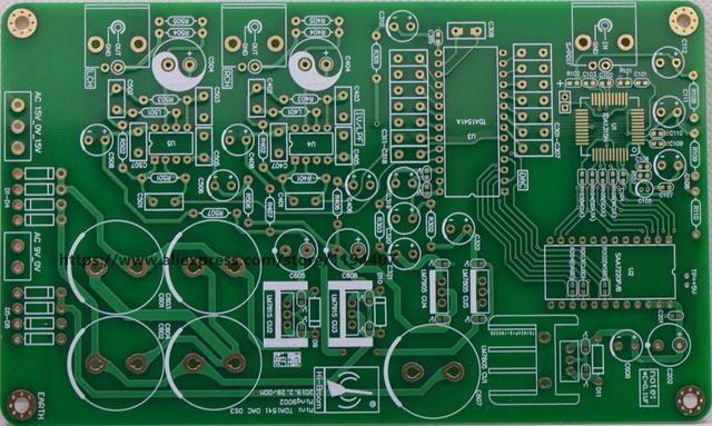 HiFi Audio OS3 SAA7220P/B + TDA1541 DAC فك لوحة دارات مطبوعة