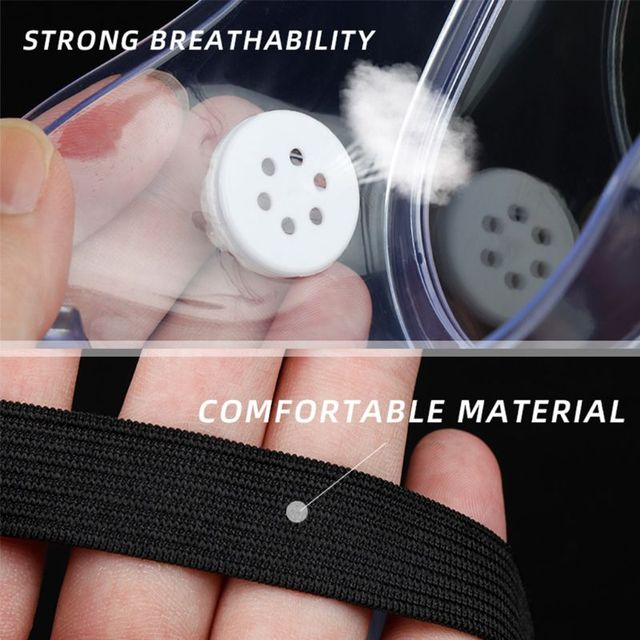 Multifunctional Splash Safety Goggles Anti-Dust Droplets Saliva Protection Anti-Fog Eye Cover Shield for Soldering Lab 5