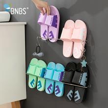 Buy BNBS Wall Hook Shoe Stainless Steel Rack Shoe Storage Stand For Shoes Organizers Shelves For Shoes Hanger For Slippers Rack directly from merchant!