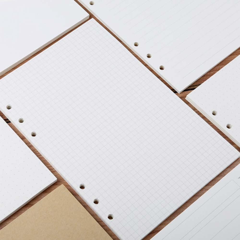 45 листов/90 страниц, кольцевые вставки для ноутбука, заправки, 6 отверстий, листовые бумаги, журналы A5 A6, дневник на спирали, планировщик, внутр...