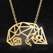 100% Real Stainless Steel Hollow Large Chameleon Necklace Special Gift Fashion Animal Pendant Necklaces Personality Jewelry(China)
