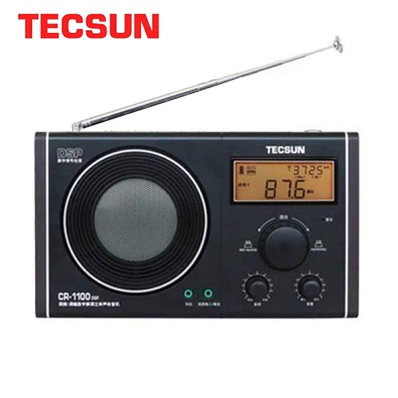 Tecsun CR-1100 DSP AM/FM Stereo Radio Portable Fm InternetC Retro Radio 87-108 MHz/65-108MHz/522-1620 kHz AM/FM Stereo Radio