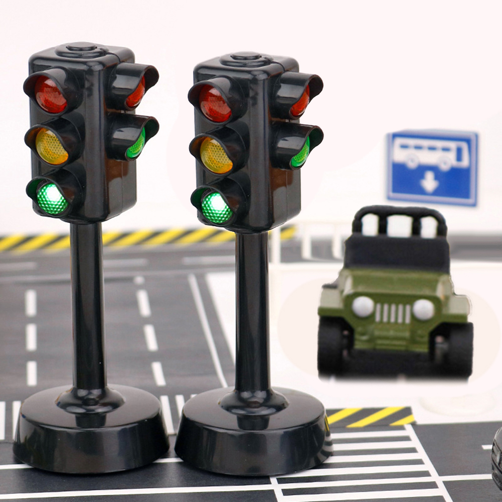 Mini Traffic Signs Light Speed Camera Model With Music LED Education Kids Traffic Light Toy Intellectual Developmen Toy Gift