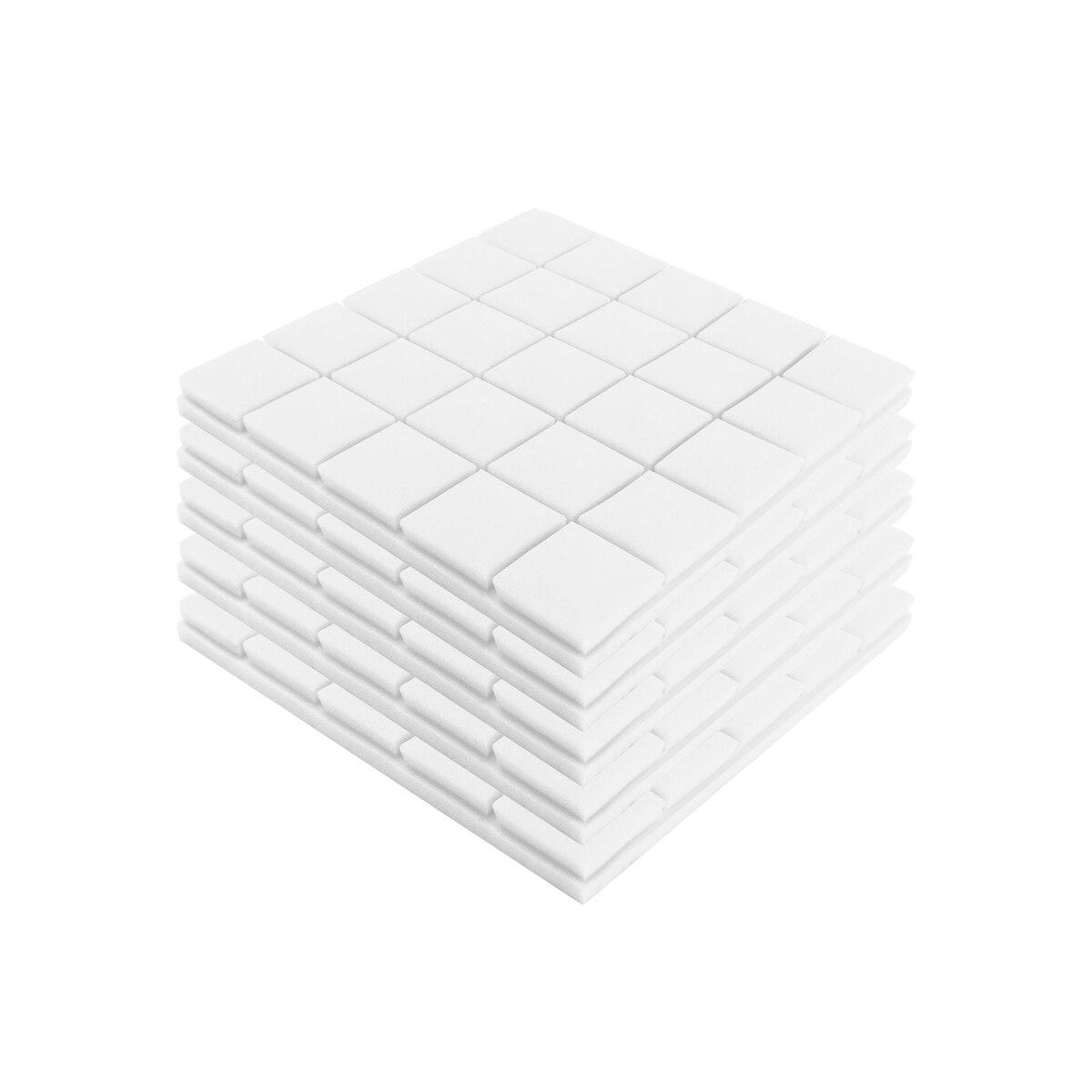 500x500x50mm 5pcs Soundproof Foam Acoustic Sound Stop Absorption Sponge Drum Room Accessories Wedge Tiles Polyurethane Foam