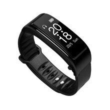Y3 팔찌 심박수 모니터 스포츠 스마트 시계 밴드 Passometer 피트니스 트래커 SmartWatch 블루투스 헤드셋 토크 2 In 1 1yw