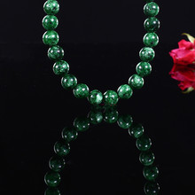 Green stone jade beads Fashion handmade beaded bracelet creative necklace loose beads DIY jewelry accessories production цена