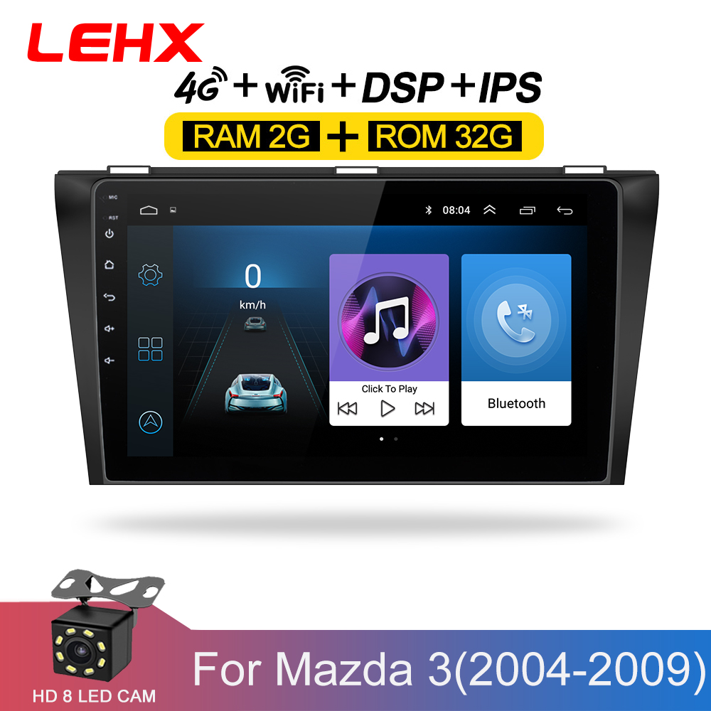 Car DVD GPS android 8.1 Car <font><b>Radio</b></font> Stereo 2G 32G Free MAP Quad Core 2 din Car Multimedia Player For <font><b>Mazda</b></font> <font><b>3</b></font> 2004-2013 maxx axel image
