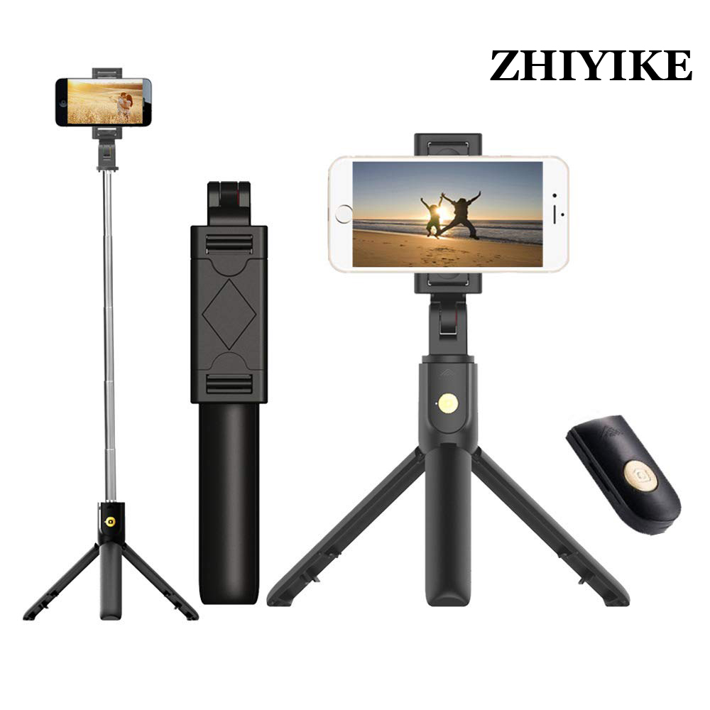New 3 In 1 Wireless Bluetooth Selfie Stick Mini Selfie Tripod With Remote Control For Android IPhone X 8 7 6s Plus Monopod