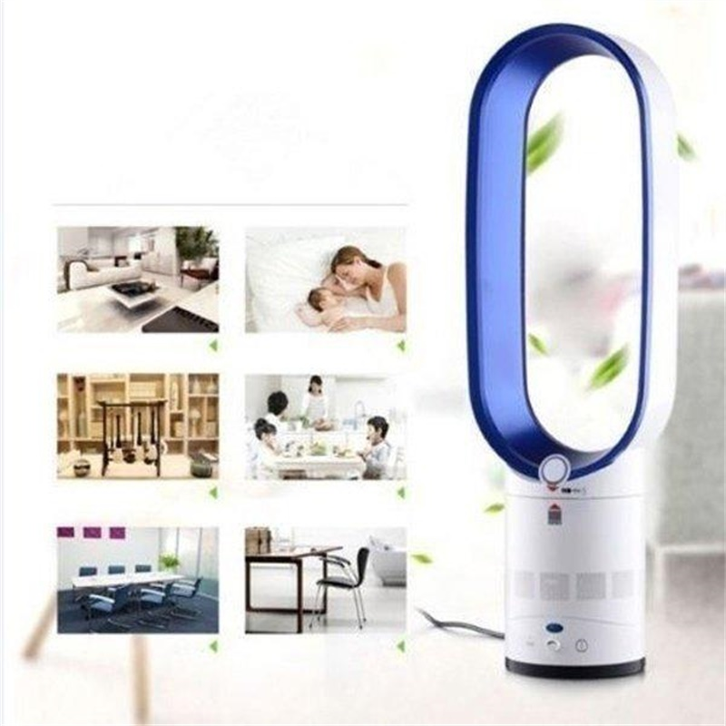 16 Inches No-blade Fan Bladless Floor-standing Fan Air Purifing Remote Control Electric Negative Ion Purifying Fan