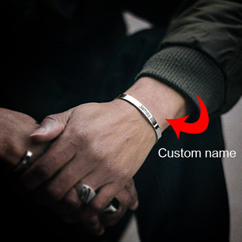 цена на custom couples Cuff Bangles women 316L Stainless Steel Bangle name bracelet luxury jewelry custom Engraving men bracelet jewelry