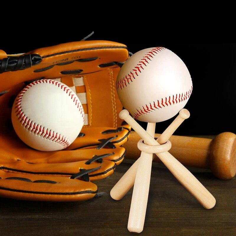 Baseball Golf Tennis Ball Display Stand Souvenir Ball Wood Holder Support