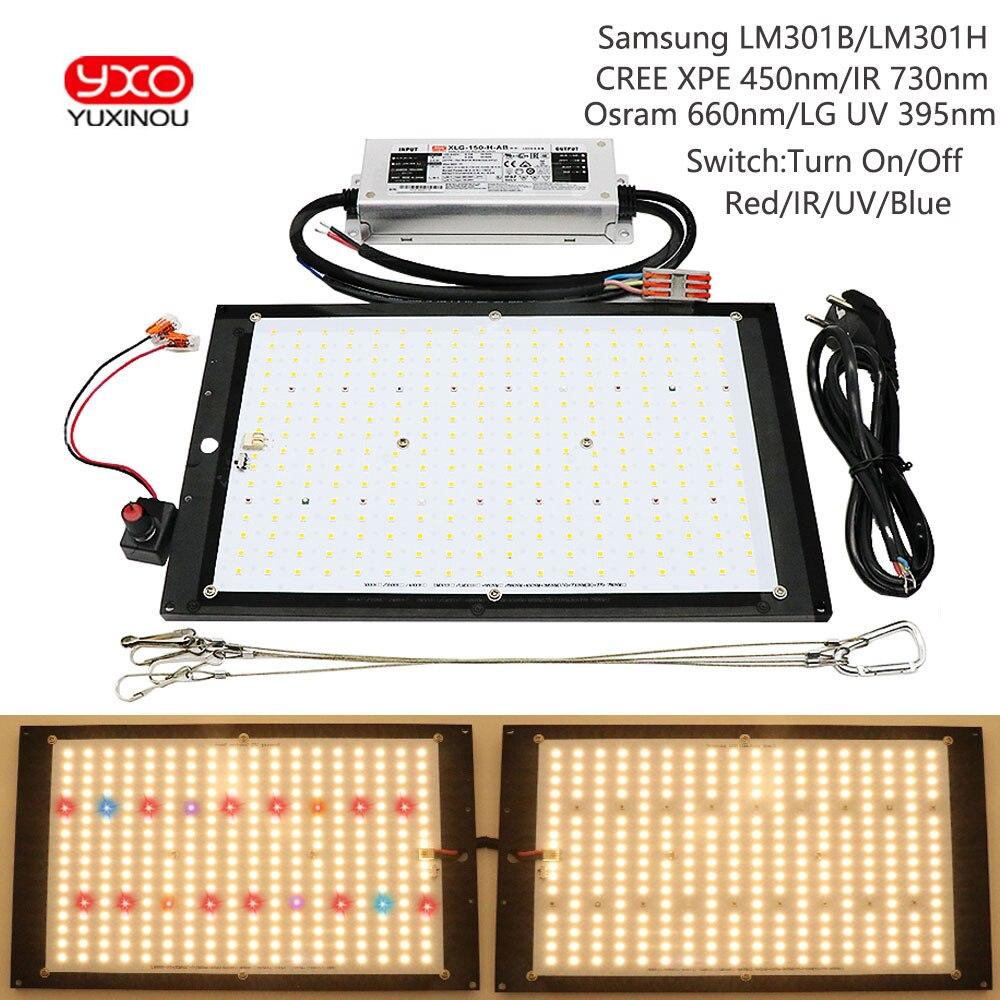Dimmable Samsung LM301H/301B CREE Osram UV IR 150W haute technologie LED conseil grandir éclairage allumer/éteindre interrupteur avec pilote Meanwell