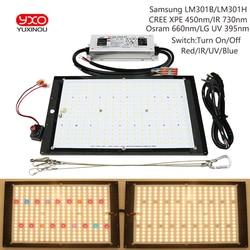 Możliwość przyciemniania Samsung LM301H/301B CREE Osram UV IR 150W High Tech tablica led lampa do uprawy roślin włącz/wyłącz przełącznik z sterownik meanwell w Lampy LED do hodowania roślin od Lampy i oświetlenie na