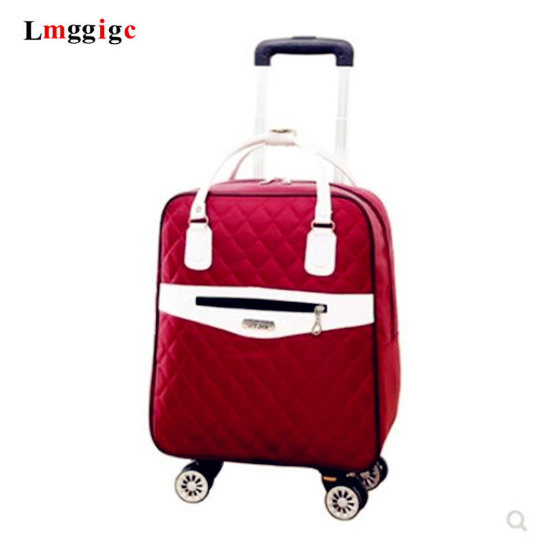 Universal Wheel Trolley Case,Boutique Luggage,Oxford Suitcase,Multi-function Double Shoulder Bag,Travel Tote,20