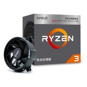 AMD Ryzen 3 2200G R3 2200G 3.5GHz Quad-Core Quad-Thread CPU Processor L2=2M L3=4M 65W APU Socket AM4 New and with fan