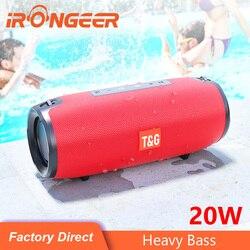 TG Bluetooth Speaker 20W High Power Portable Column Speaker dual diaphragm stereo subwoofer portable USB TF FM Radio soundbox