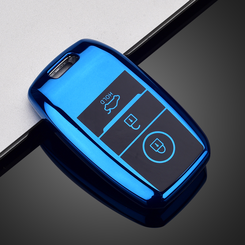 RUNZUIE Silicone Keyless Entry Remote Smart Key Fob Cover Case Protector Shell Fit for Kia K3 Optima Cerato Forte Sorento Rio Rio5 Soul 4 Buttons