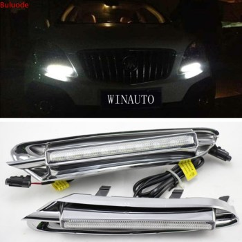 цена на For Buick Encore Opel Mokka 2012 2013 2014 2015 LED DRL Daytime Running Light Driving Daylight Signal lamp Styling