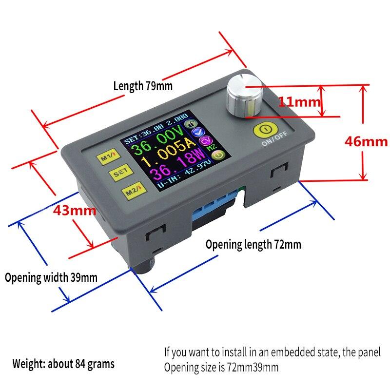 Digital Control DC Power Supply Adjustable Buck Module Integrated Voltmeter Ammeter Color Screen 50V 5A DP50V5A