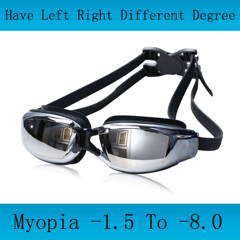 Профессиональные очки для плавания для взрослых для близорукости, мужские очки для плавания с диоптриями для арены, очки для плавания с защ...