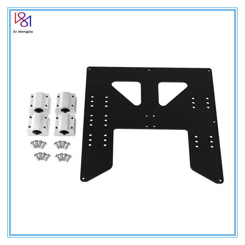 3d Printing Parts Prusa I3 Anet A8 A6 Z Axis Hot Bed Support Plate With 4pcs Sc8uu Sliders Kit For  Prusa I3 Anet A8 3d Printers
