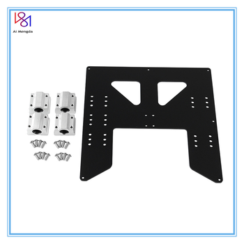 3d Printing Parts Prusa I3 Anet A8 A6 Z Axis Hot Bed Support Plate With 4pcs Sc8uu Sliders Kit For  Prusa I3 Anet A8 3d Printers anet a8 a3 a6 3d printer part control board motherboard mainboard v1 5 repra prusa i3 3d printer