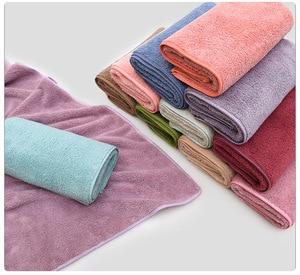 Image 4 - 12 Kleuren 2 Stuks Handdoek Microfiber Stof Handdoek Set Pluche Bad Gezicht Handdoek Quick Dry Handdoeken Voor Volwassen Kinderen bad Super Absorberende