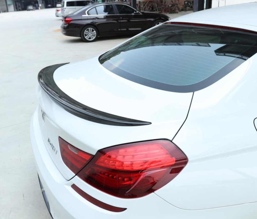 Fibra de carbono coche ala trasera maletero labio Spoilers encaja para 12-17 BMW Serie 6 F06 F12 2012, 2013 2014, 2015, 2016, 2017