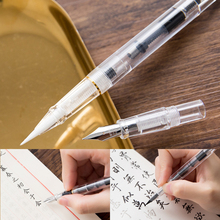 все цены на Luxury Crystal Refillable Calligraphy Fountain Pen Brush Pen Marker Pen Stationery Art Supplies онлайн