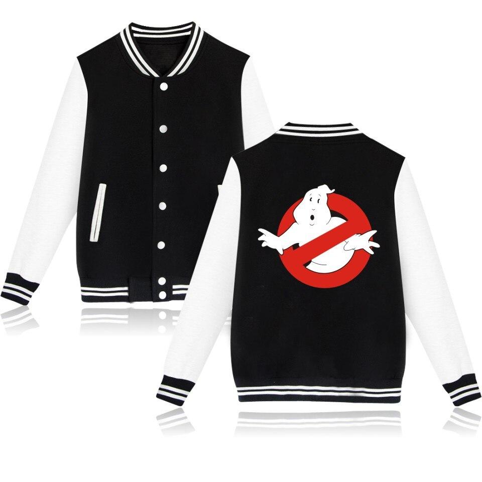 Wintet Mens Bomber Jackets 2019 Movie Ghostbusters Baseball Jacket Outerwear Ghost Busters Men Hoodies Sweatshirts Cosplay Anime