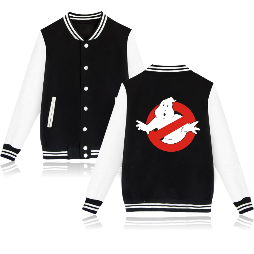 Wintet Mens Bomber Jackets 2019 Movie Ghostbusters <font><b>Baseball</b></font> Jacket Outerwear Ghost Busters Men Hoodies <font><b>Sweatshirts</b></font> Cosplay Anime image