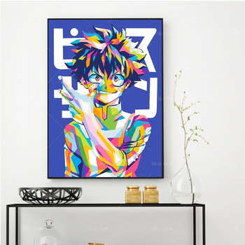 Modern Canvas Painting Wall Art Print Japan Hot My Hero Academia Anime Poster Fashion Home Decor For Boy Bedroom Modular Picture недорого