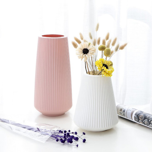 Anti-ceramic Vase European-style Home Decorations Plastic Vase Shatter-resistant Wedding Decoration Dried Flowers Real Flowers 2