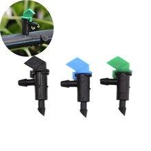 O envio rápido de 200 peças, 4l 8l 16l/h bandeira de gotas emissores de luz tomada micro tubulação gotejamento acessórios de irrigação tomada gotejador de apart
