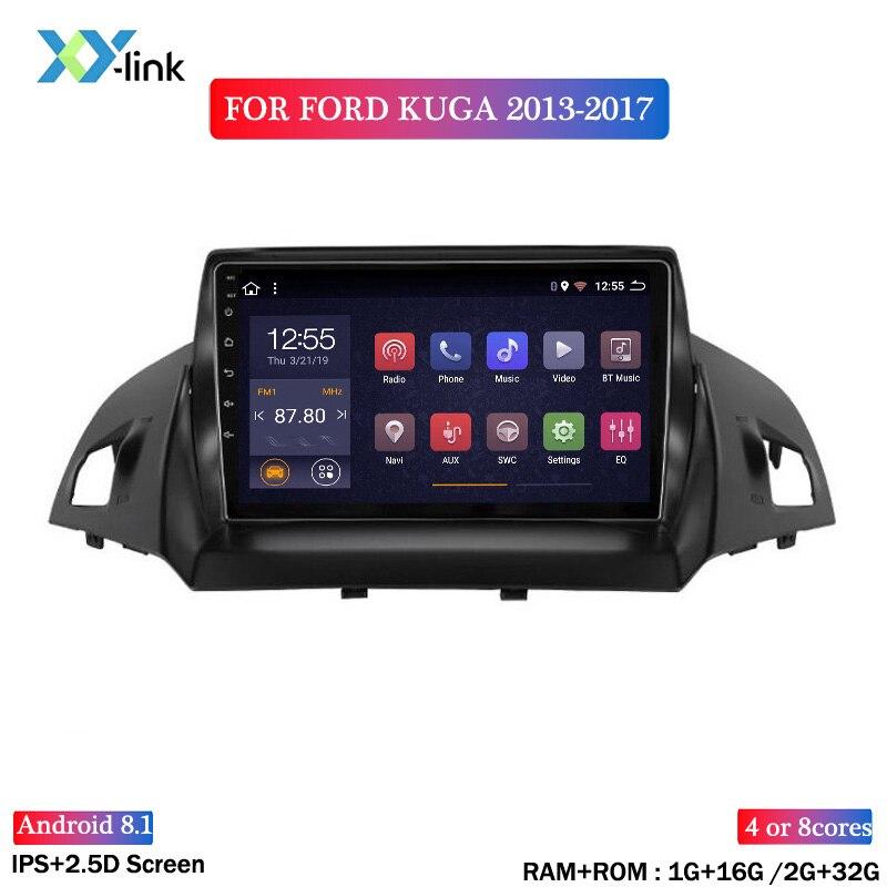 9 дюймов 2.5D Android 8,1 автомобильный DVD GPS плеер для ford kuga 2013-2017 автомобильный Радио стерео головное устройство навигации
