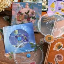 CD serie de flores, pegatinas decorativas de PVC, etiqueta de palo de Scrapbooking, diario, álbum de papelería, hoja, pegatina de rosa, accesorios, 19 Uds.