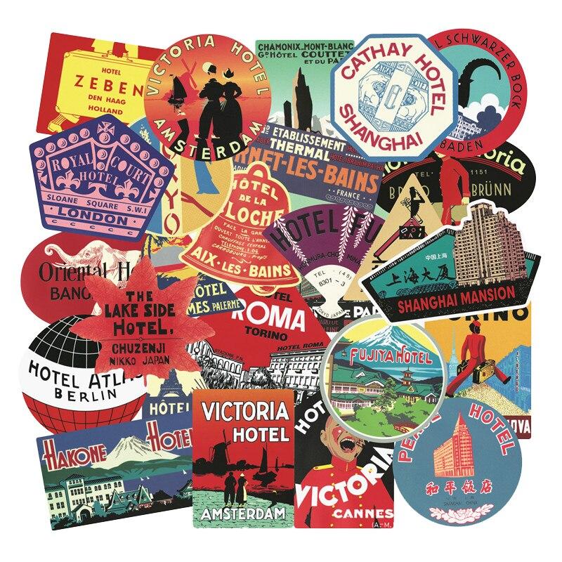 56 pçs rimowa viagem retro adesivos maré hotel internacional marca graffiti etiqueta caso portátil skate brinquedos presentes para crianças f4