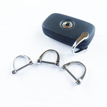 Klucze składane do samochodu podkowy breloczek do kluczy Adapter do Smart 451 453 fortwo forfour Mini Cooper One JCW uniwersalne akcesoria tanie i dobre opinie inchinch Ze stopu cynku Breloki Car Key Chain 30gg 0inchinch